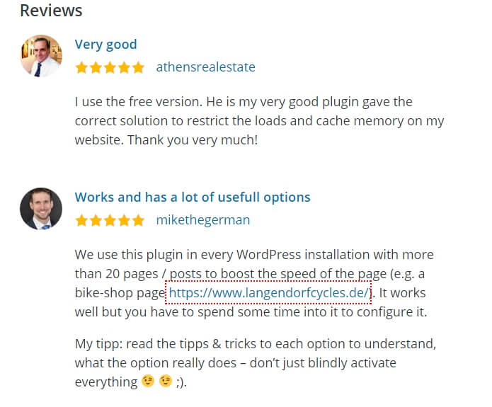 WP Reviews