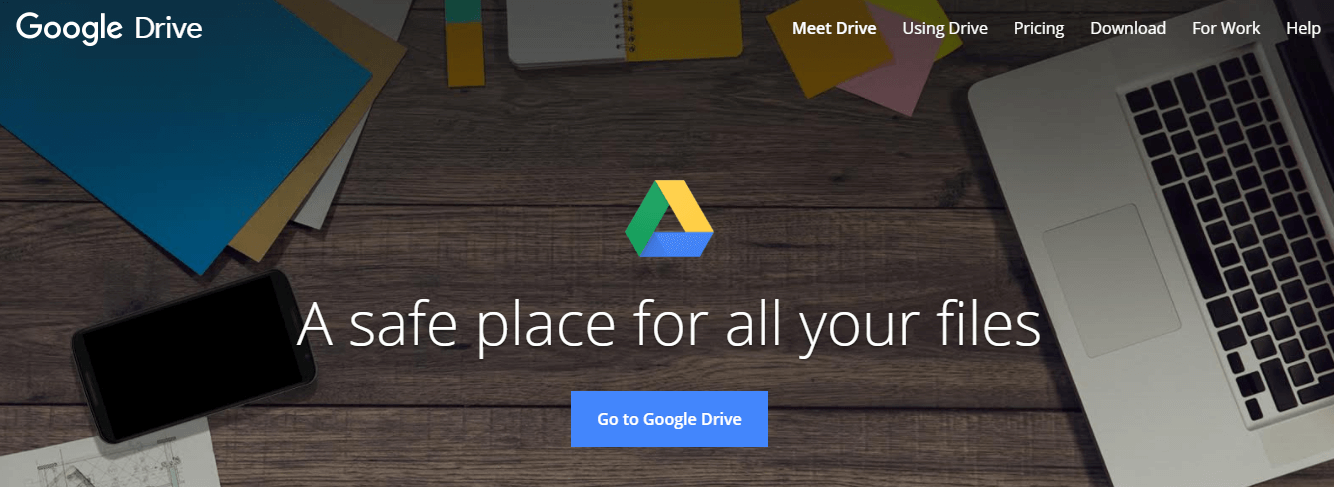 Google Drive cloud-based storage service provider