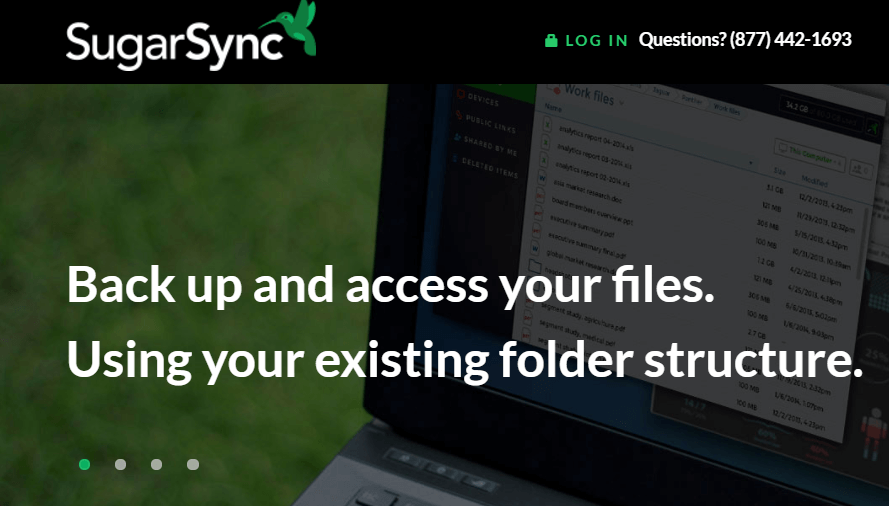 SugarSync cloud-based storage service provider