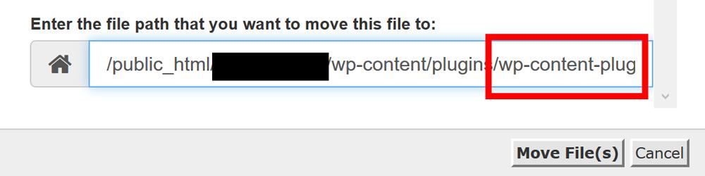 File Restore Path