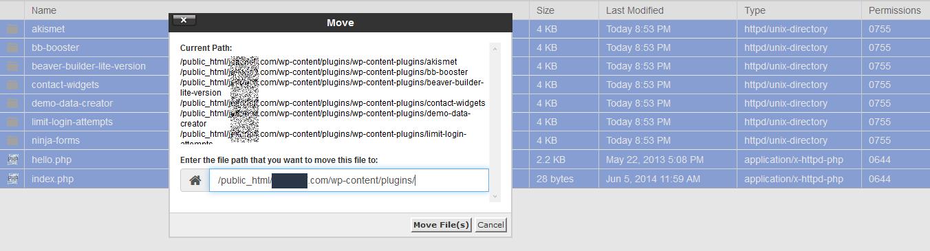 Move Plugin Files