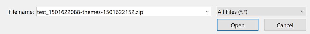 Backup theme archive
