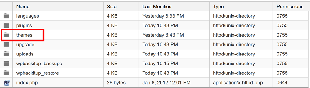Backup Theme Files